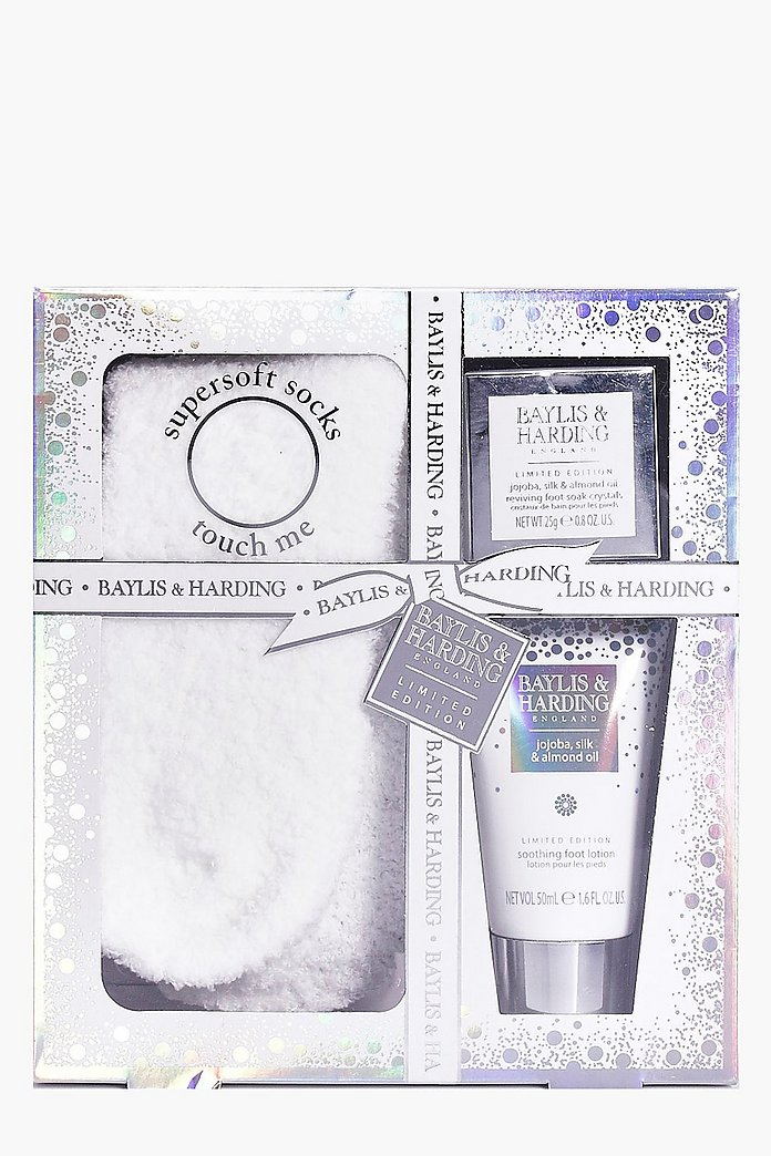Foot Lotion Crystals & Socks Gift Set