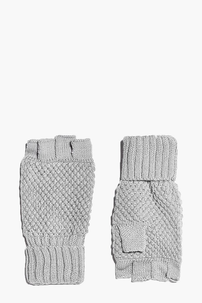 Abigail Cable Knit Fingerless Gloves
