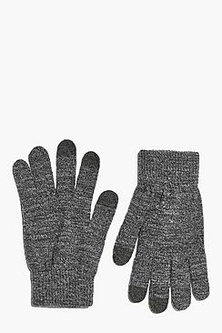 Alice Grey Marl Touch Screen Gloves