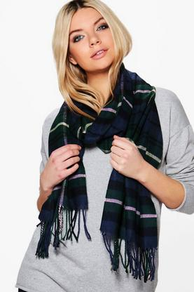 Lacey Supersoft Brushed Tartan Scarf