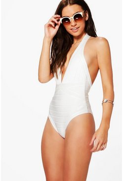 Cannes Boutique Bandage Plunge Swimsuit