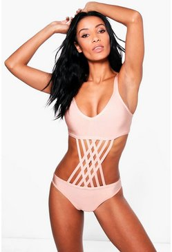 Sorrento Boutique Bandage Strappy Swimsuit