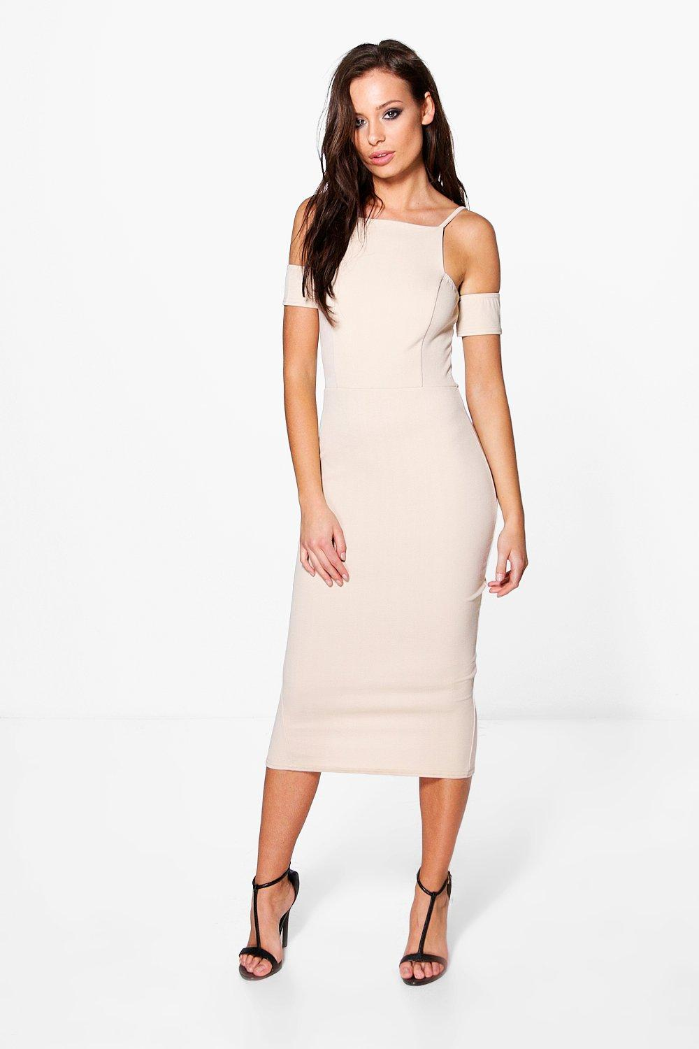Yvonne Square Neck  Midi Dress