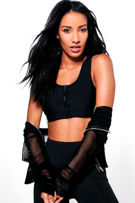 Product photo of Fit zip sports bra black