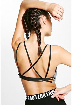 Ally Fit Strappy Back Sports Bra
