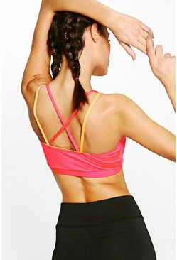 Lara Fit Layered Strappy Sports Bra