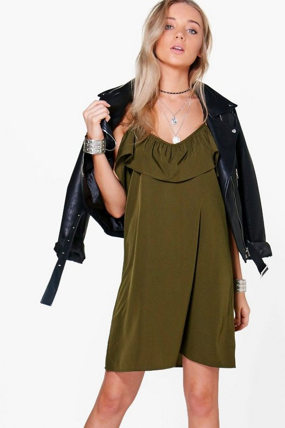 Ola Cold Shoulder Shift Sundress