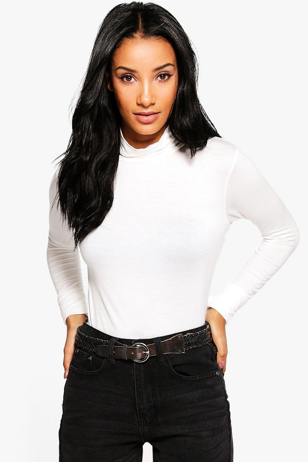 Helen Long Sleeve Roll Neck Top