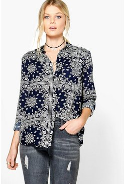 Codie Printed Viscose Shirt