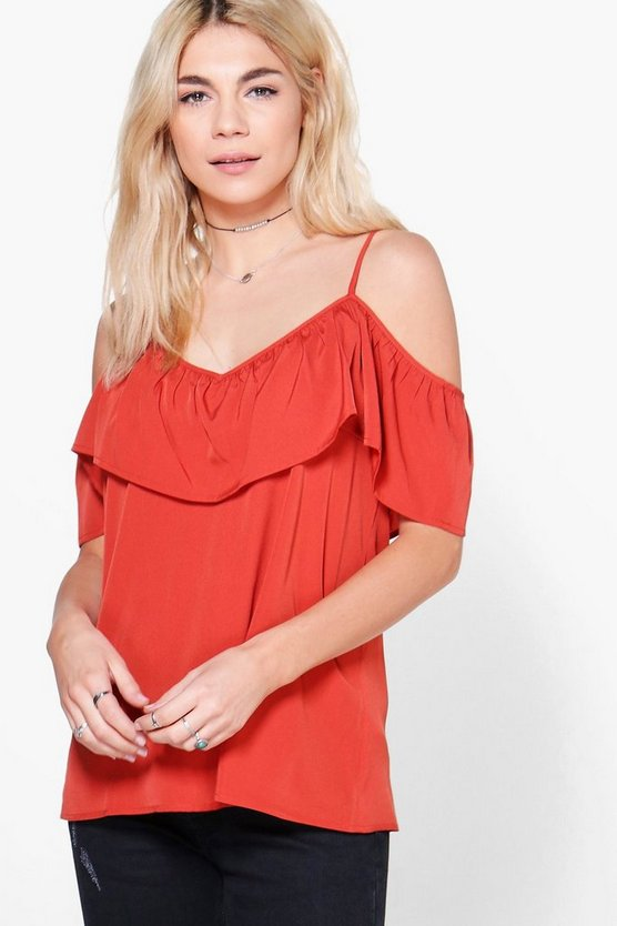 Posey Ruffle Front Woven Cami