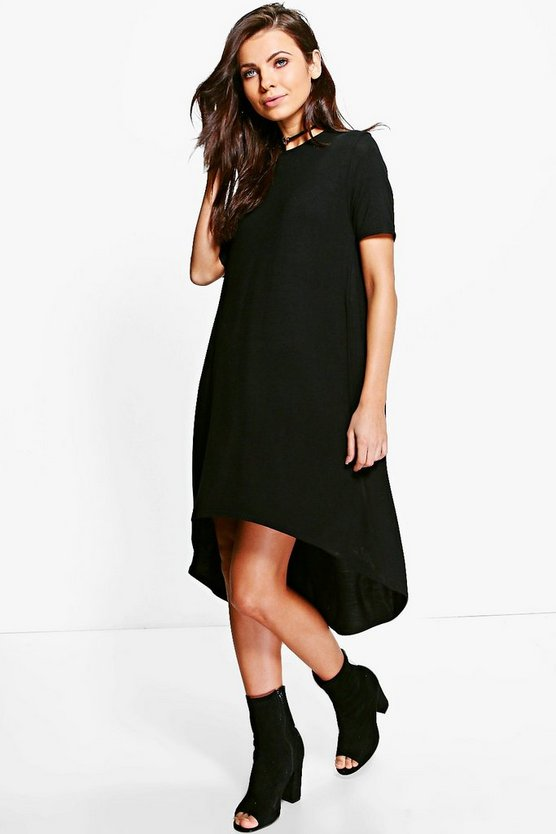 Raquel Oversized Dip Back T-Shirt Dress