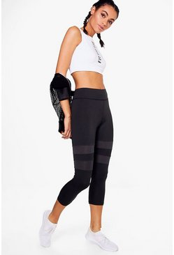 Tilly Fit Mesh Insert Capri Running Legging