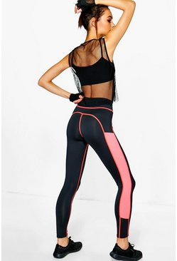 Melissa Fit Mesh Insert Running Leggings