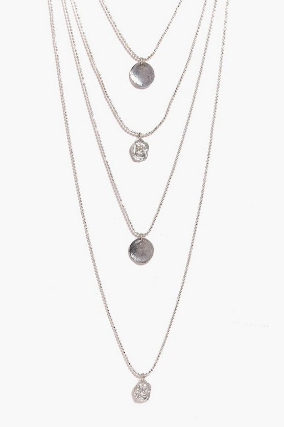 Paige 4 Layer Coin Charm Necklace