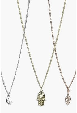 Maria Charm Mixed Metal Necklace Pack