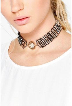 Lydia Boutique Decorative Coin Charm Choker