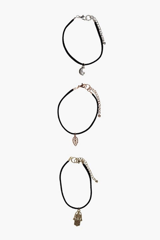 Mae Mixed Charm Cord Bracelet Pack