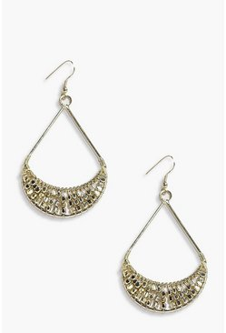 Louise Chain Mail Dangle Hoop Earrings