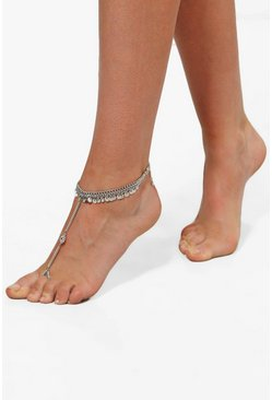 Casey Shimmer Disc Embellished Footlet