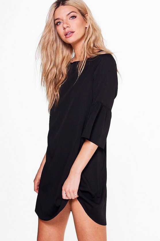 Elouise Frill Sleeve Shift Dress