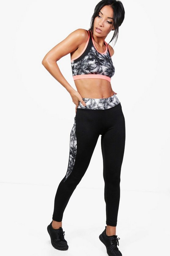 Fit Abby Palm Mesh Running Leggings