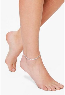 Isabel Diamante Glass Stone Dainty Anklet