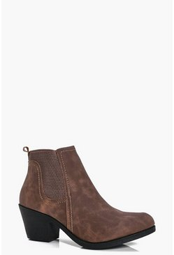 Lauren Pull On Western Chelsea Boot