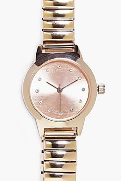 Lois Diamante Dial Stretch Bracelet Watch