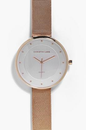 Keira Metal Strap Minimalist Face Watch
