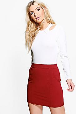 Isabelle Panelled Woven Mini Skirt