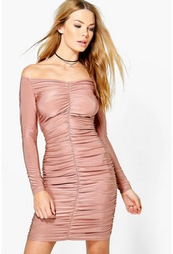 Mishi Slinky Off Shoulder Bodycon Dress