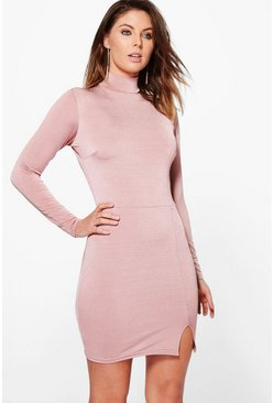 Molly Crepe High Neck Bodycon Dress