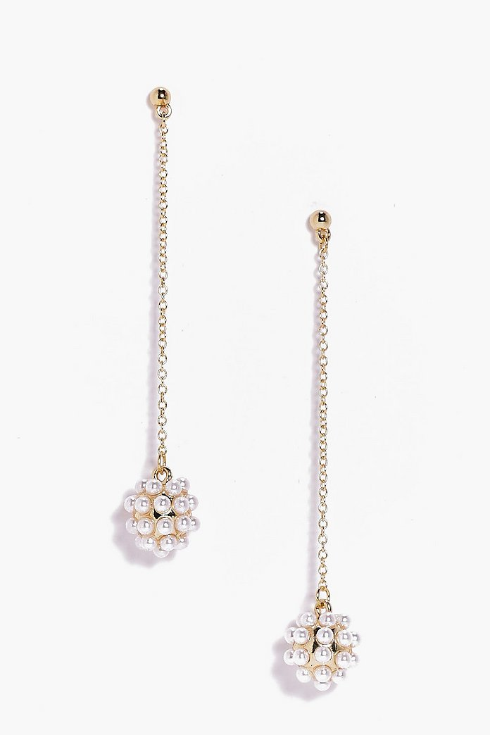 Lola Pearl Cluster Drop Earrings