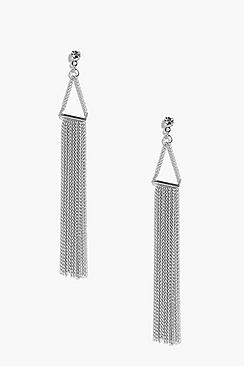 Millie Diamante Stud Metal Earrings
