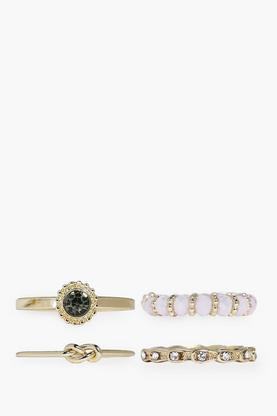 Sophia Beaded & Diamante Mixed Ring Pack