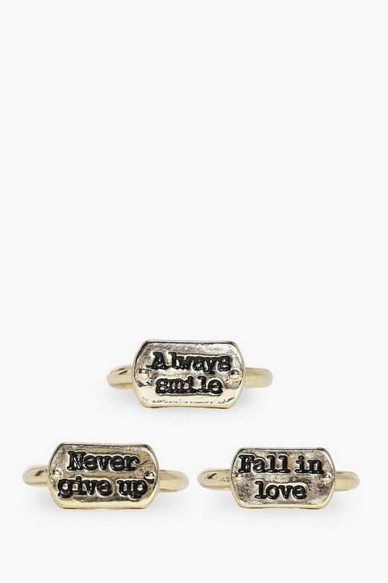 Poppy Advice Slogan Ring Pack