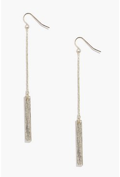Elizabeth Gold Bar Long Length Earrings