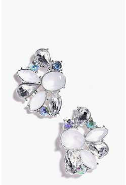 Emma Mixed Diamante Stone Cluster Earring