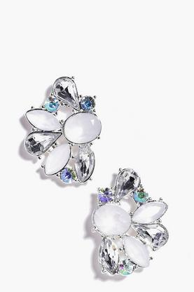 Emma Mixed Stone Embellished Cluster Earring