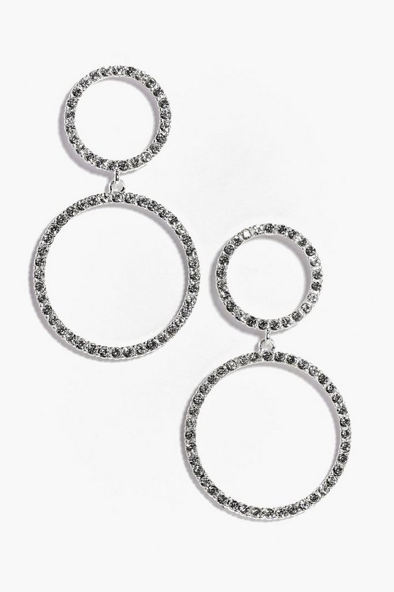 Emilia Double Diamante Hoop Earrings