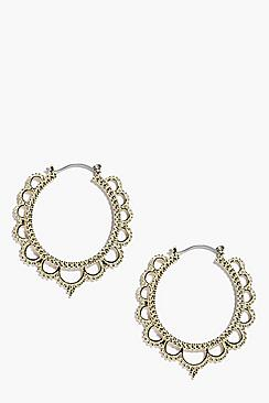 Evelyn Eastern Hoop Earrings