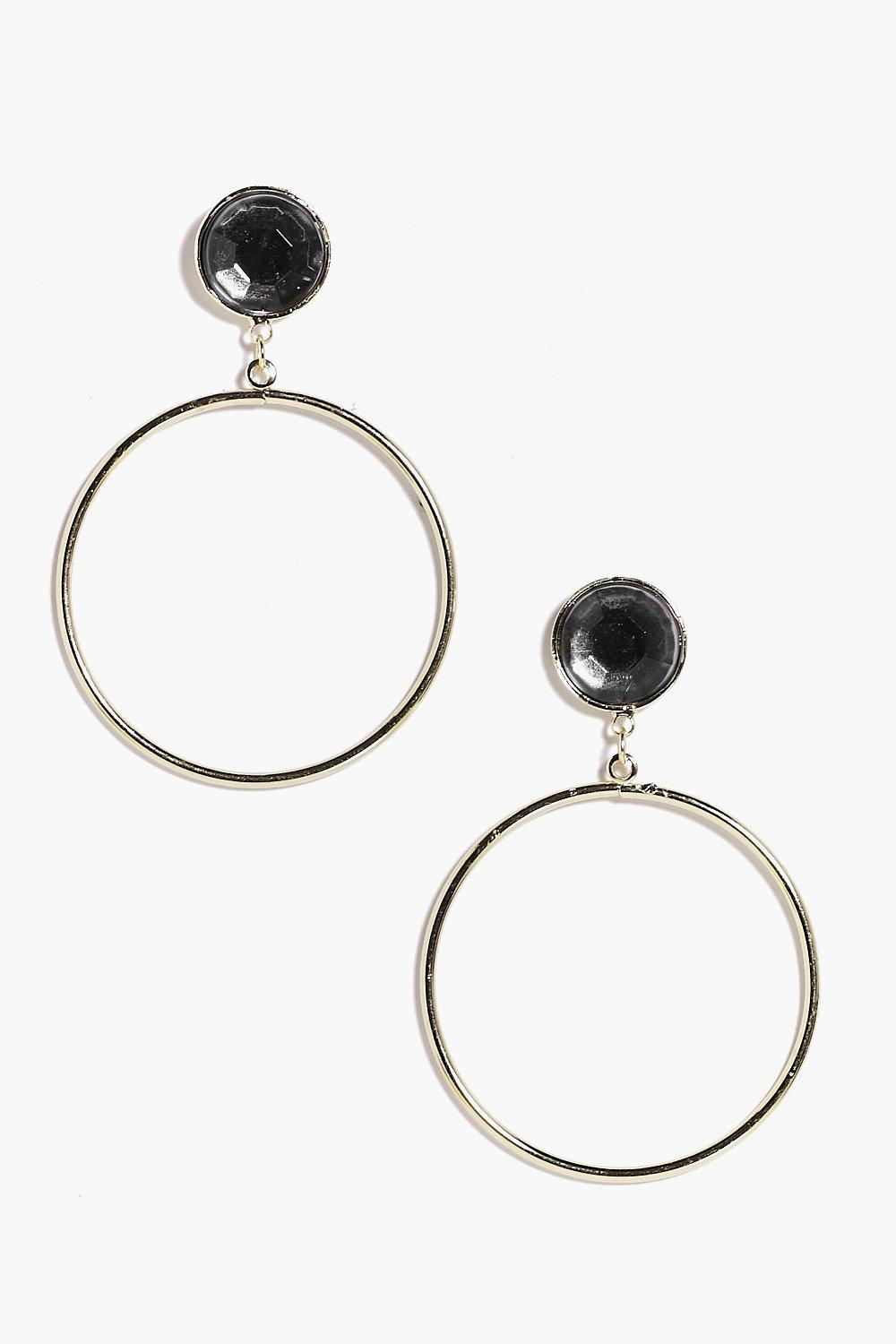 Rebecca Statement Hoop Earrings