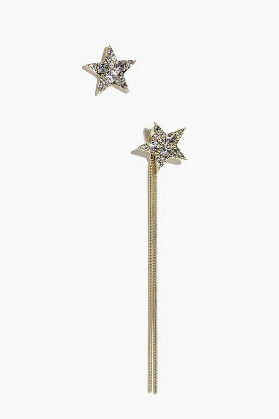 Ella Star Stud And Dangle Mismatch Earrings