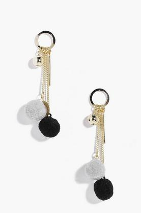 Abigail Faux Fur Pom Statement Earrings