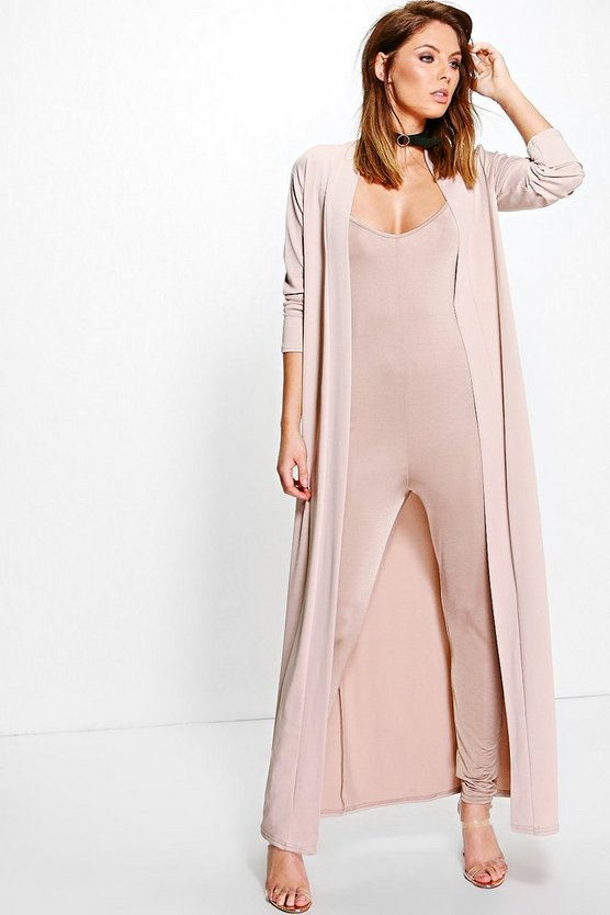 Ava Slinky Unitard and Texture Duster Co-ord