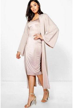 Sarah Strappy Midi Dress and Oversized Duster Co-Ord