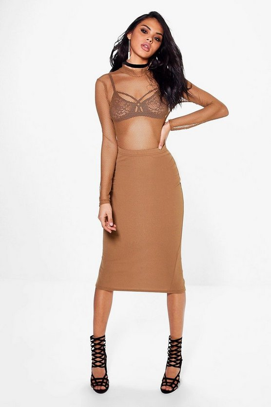 Nadia Fishnet Body And Midi Skirt Co-ord