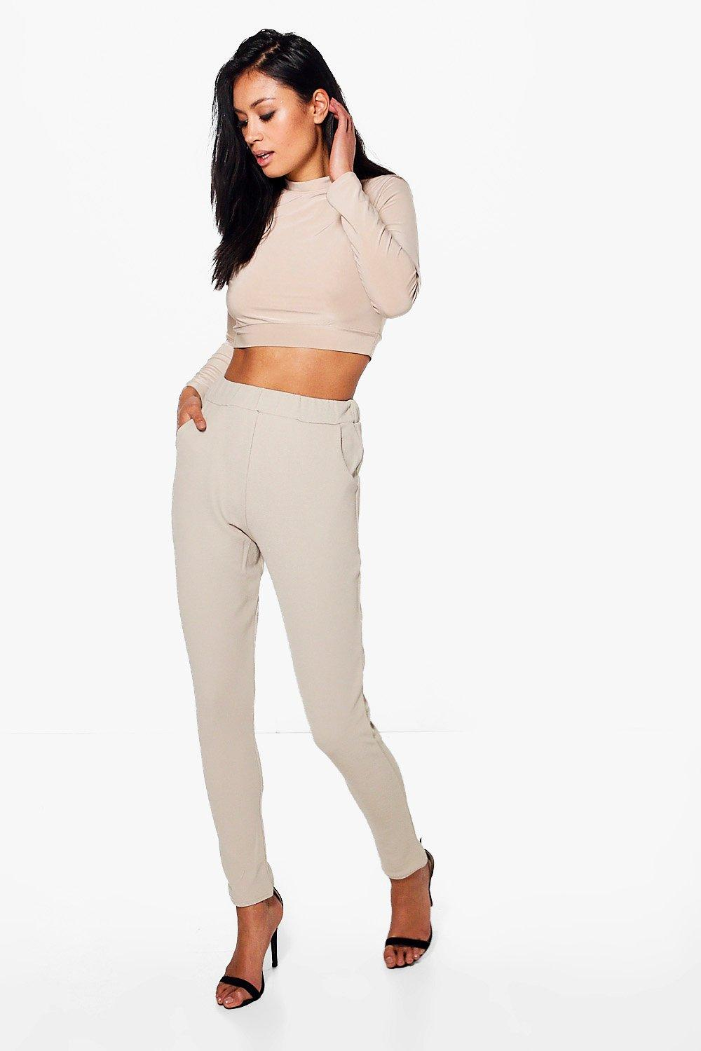 Becky Roll Neck Top And Skinny Trouser Co-ord