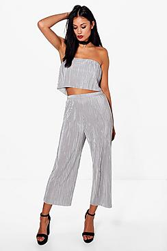Antonia Pleated Bandeau and Culotte Co-ord