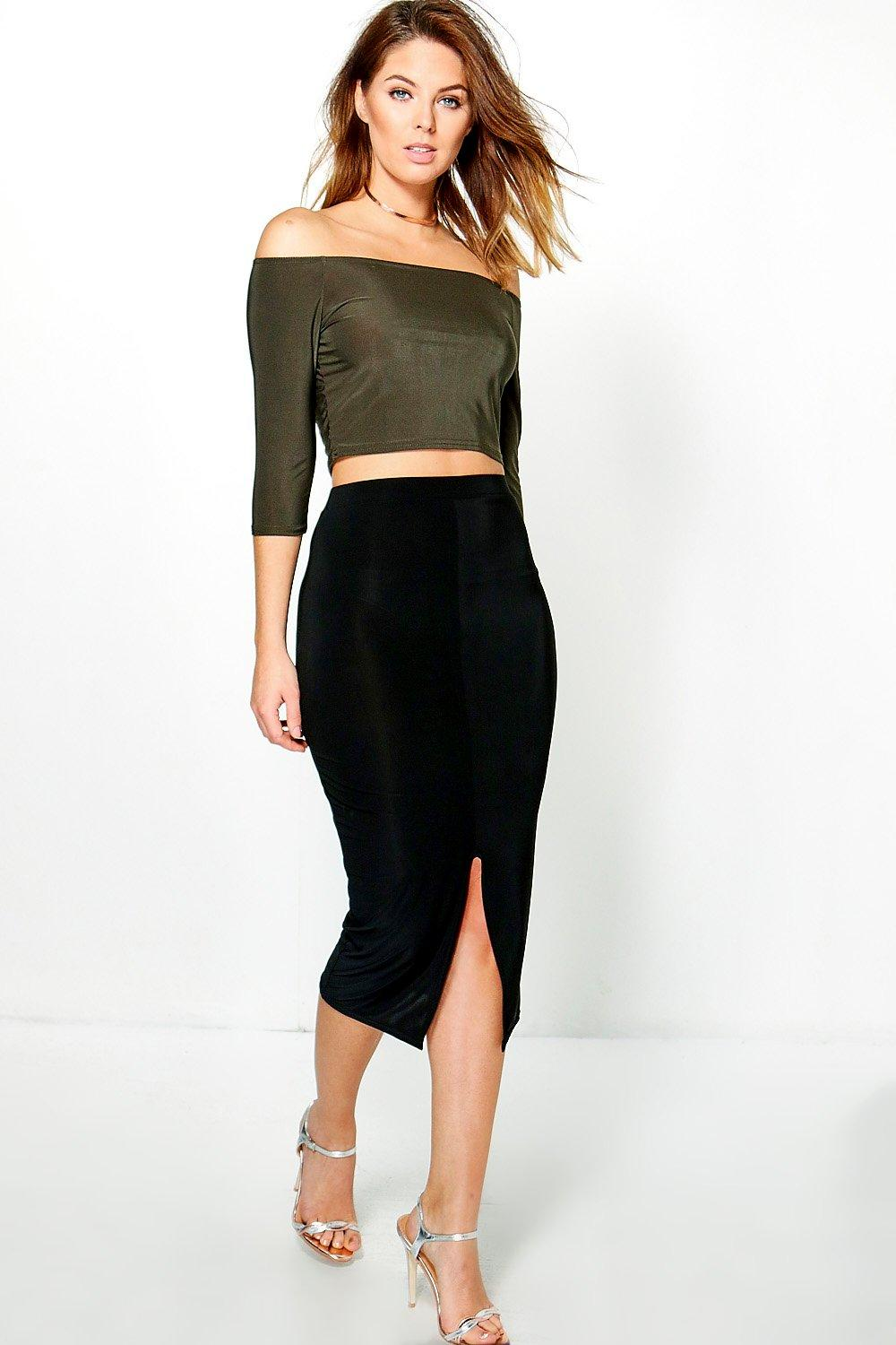 Esme Slinky Off The Shoulder Crop Co-ord
